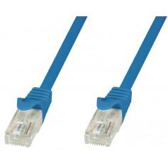 Techly Cavo di rete Patch in CCA Cat.6 Blu UTP 1m ICOC CCA6U-010-BLT