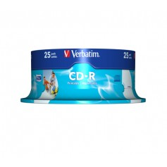 Verbatim CD-R AZO Wide Inkjet Printable CD-R 700MB 25pezzo(i)