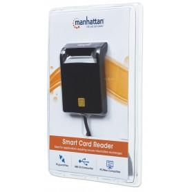 Lettore/Scrittore di Smart Card USB Compatto Nero