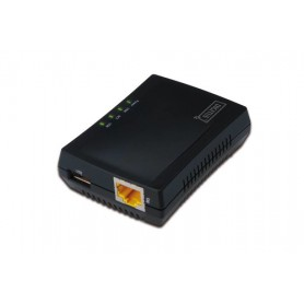 DIGITUS PRINT SERVER PER RETI INTEGRATO, NAS, HUB USB DI RETE, NETWORK SERVER USB MULTIFUNZIONE, NAS, PRINT SERVER USB 2.0