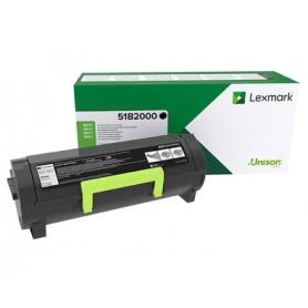Lexmark 51B2000 Toner laser Nero cartuccia toner e laser