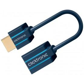 Cavo Adattatore Flessibile HDMI M/F 0,1m Alta Qualità