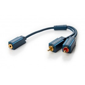 Cavo Audio 2 RCA M a Jack 3,5 mm F 0,10 m Alta Qualità