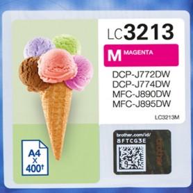 Brother LC-3213M 400pagine Magenta cartuccia d'inchiostro