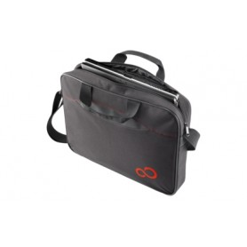 """Fujitsu Casual Entry Case 16 15.6"""" Valigetta ventiquattrore Nero, Rosso"""