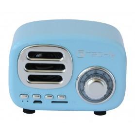 Speaker Bluetooth Wireless, Design Radio Classico, azzurro