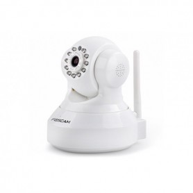FOSCAM IP CAMERA WIRELESS 720P 1MPX 11 IR LIGHTS 2 WAY AUDIO IR CUT FILTER MICRO SD WHITE