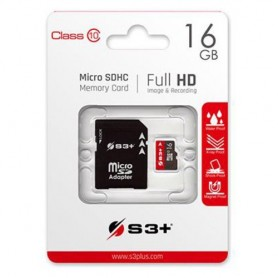 SD-MICRO S3+ 16GB SDHC incl. Adapter Class 10 - S3SDC10/16GB