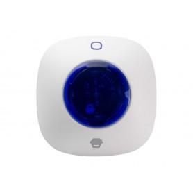 Sirena con Lampeggiante Wireless da Interni per Antifurto WS-105