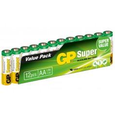 Set 12 Batterie AA Stilo GP Super