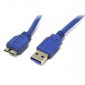 Techly Cavo USB 3.0 A maschio/MIC B maschio 1 m FLAT (ICOC MUSB3-FL-010)