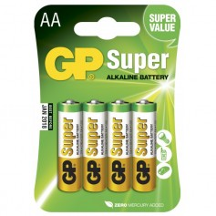 Blister 4 Batterie AA Stilo GP Super