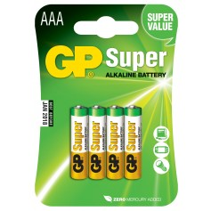 Blister 4 Batterie AAA Mini Stilo GP Super