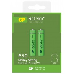 Blister 2 Batterie Ricaricabili AAA Mini Stilo GP ReCyko