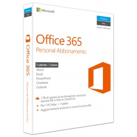 MICROSOFT OFFICE 365 PERSONAL 32-BIT/X64 ITA SUBSCRIPTION 1YR