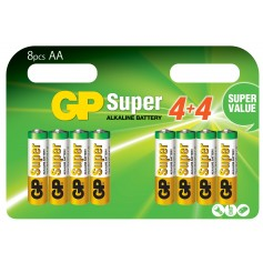 Blister 8 Batterie AA Stilo GP Super