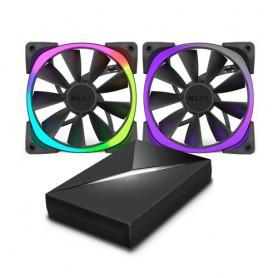 NZXT VENTOLA AIR HUE+ RGB, 140X140X26MM, 500 RPM, 22/33 DBA,