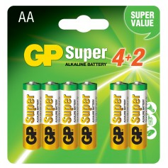 Blister 6 Batterie AA Stilo GP Super