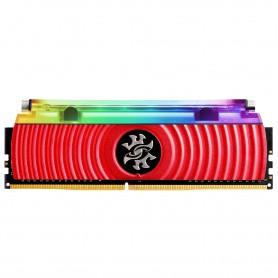 ADATA RAM GAMING XPG SPECTRIX D80 DDR4 3200MHZ CL16 8GB RGB LIQUID COOLED RED HEATSINK