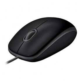 Logitech B110 mouse USB Ottico 1000 DPI Ambidestro Nero