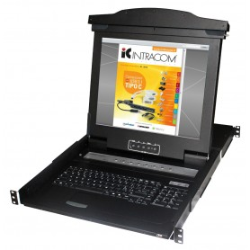 Console KVM Switch 16 Porte USB con LCD 17'' da Rack 19''