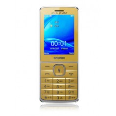 "BRONDI CELLULARE GOLD BLADE DUAL SIM GSM QUAD BAND 2,4"" A COLORI 1,3MP RADIO FM BLUETOOTH SLOT MICRO SD"