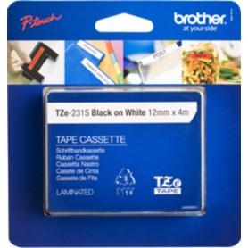 Brother TZE-231S Nero su bianco TZe nastro per etichettatrice