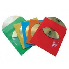 Buste Porta CD/DVD di Carta Colorata con Oblò e Aletta 100 pz