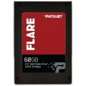 "SSD PATRIOT FLARE 2.5"" 60GB SATA3 READ:555MB/WRITE:360 MB/S - PB60GS25SSDR"