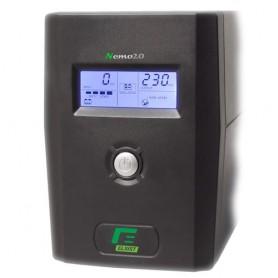 UPS ELSIST NEMO 2.0 400 -4000VA LCD + AVR LINE INTERACTIVE MONOFASE - USB+Software di gestione, Uscite: 2IEC+ 2SHUKO