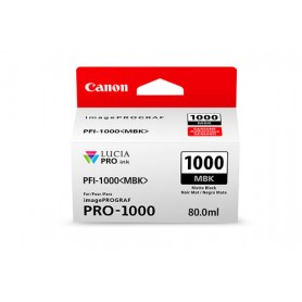 Canon PFI-1000 MBK cartuccia d'inchiostro Nero opaco 80 ml