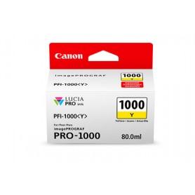 Canon PFI-1000 Y cartuccia d'inchiostro Giallo 80 ml
