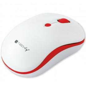 Techly Mouse Wireless 2.4GHz 800-1600 dpi Bianco/Rosso (IM 1600-WT-WRW)