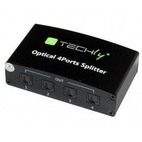 Techly Splitter Audio Digitale Toslink 4 Porte IDATA TOS-SP4