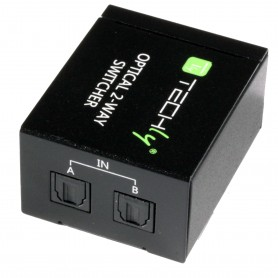 Techly Switch Audio Toslink 2 Porte con Telecomando IR IDATA TOS-SW2