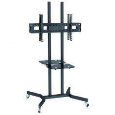 """Techly Supporto a Pavimento con Mensole Trolley 2 TV LCD/LED/Plasma 37-70"""" (ICA-TR7)"""