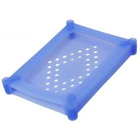 Scatola di Protezione per 1 HDD 2,5'' in Silicone Azzurro