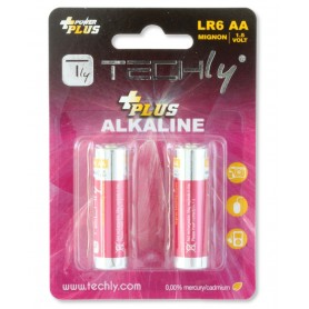 Techly Blister 2 Batterie Power Plus Stilo AA Alcaline LR06 1,5V (IBT-KAP-LR06-B2T)